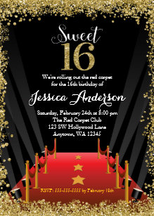Hollywood Theme Sweet 16 Gifts On Zazzle