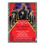 "Red Carpet Hollywood Glitter Sweet 16 Invite 5"" X 7"" Invitation Card"