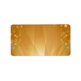 Red Carpet Hollywood Star Bat Mitzvah Blank Label