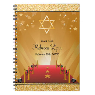 Red Carpet Hollywood Star Bat Mitzvah Guest Book