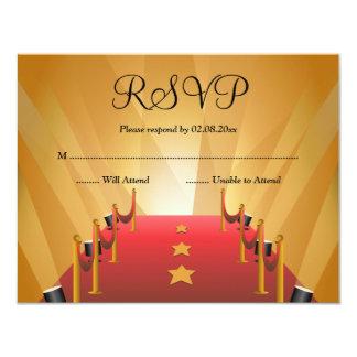 Red Carpet Hollywood Star Bat Mitzvah RSVP Card