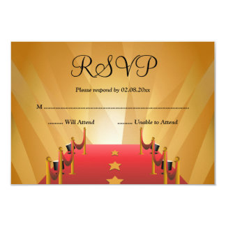 Red Carpet Hollywood Star Bat Mitzvah RSVP Card