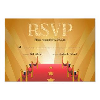 Red Carpet Hollywood Star RSVP Card