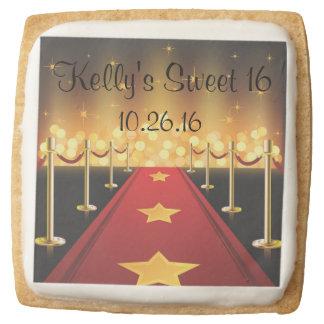 Red Carpet Hollywood Sugar Cookies Favors Square Premium Shortbread Cookie