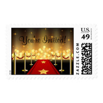 Red Carpet Hollywood Sweet 16 Custom Postage