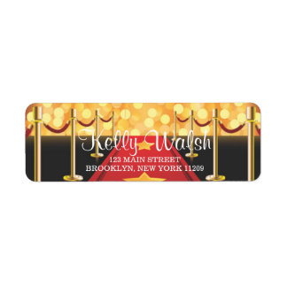 Red Carpet Hollywood Sweet 16 Envelope Label