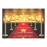 Red Carpet Hollywood Sweet 16 RSVP Card