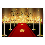 Red Carpet Hollywood Sweet 16 Thank You Card