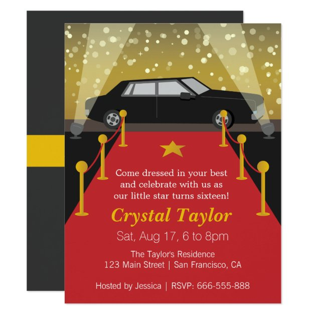 hollywood theme invitations & announcements | zazzle, Party invitations