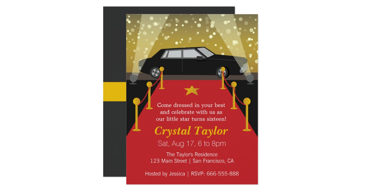 Hollywood Invitations Announcements – Hollywood Themed Birthday Invitations