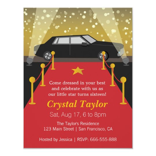 Hollywood Theme Invitations Announcements – Hollywood Themed Party Invitations