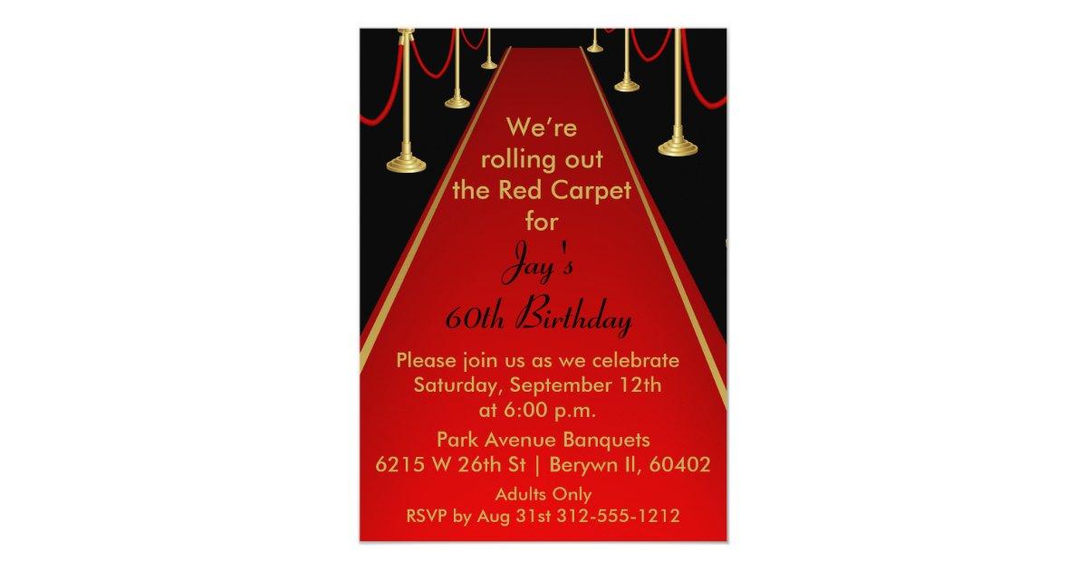 Red Carpet Invitation Hollywood Theme Sweet 16 | Zazzle.com