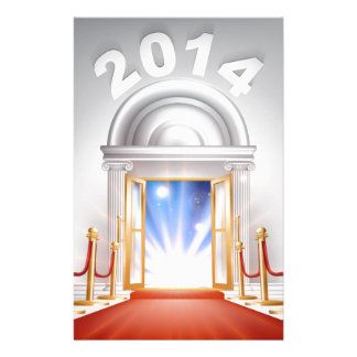 Red Carpet New Year Door 2014 Personalised Stationery
