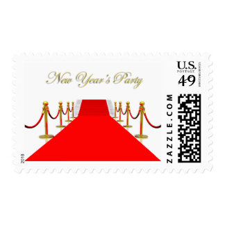 Red Carpet New Year's Party Postage Stamps