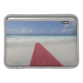 Red carpet on a beach MacBook air sleeves