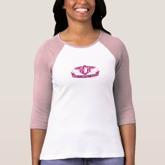 RED CARPET RATS Ladies 3/4 Sleeve Raglan (Fitted) T-Shirt