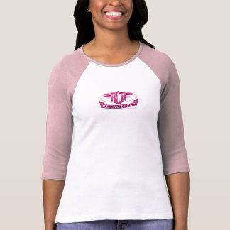 RED CARPET RATS Ladies 3/4 Sleeve Raglan (Fitted) Tee Shirt