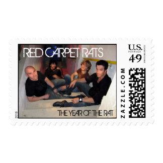 RED CARPET RATS Postage Stamp