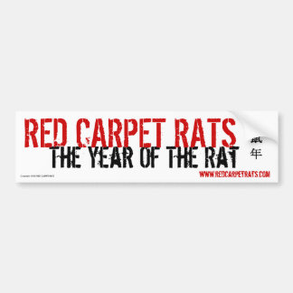 "RED CARPET RATS ""TYOTR"" Bumper Sticker"