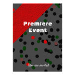 Red Carpet red and black Custom Invitations