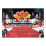"Red Carpet RSVP Card 3.5"" X 5"" Invitation Card"