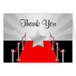 Red Carpet Silver Hollywood Thank You Card