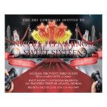 "Red Carpet Sweet Sixteen Invitation 4.5"" X 5.6"" Flyer"