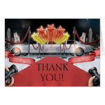 Red Carpet Thank You Note Stationery Note Card
