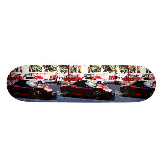 Red cars skateboard deck