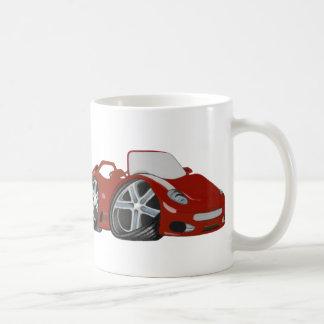 Red Cartoon Car Art Coffee Mug