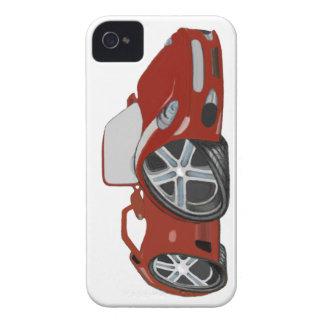 Red Cartoon Car Art iPhone 4 Case