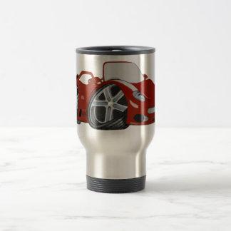Red Cartoon Car Art Travel Mug