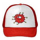 Red Cartoon Germ Trucker Hat
