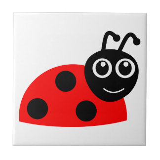 Red cartoon ladybug tile