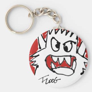 Red Cartoon Monster Basic Round Button Keychain