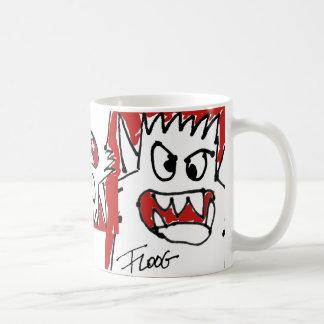 Red Cartoon Monster Classic White Coffee Mug