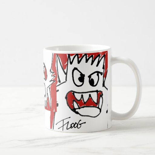 Red Cartoon Monster Coffee Mug