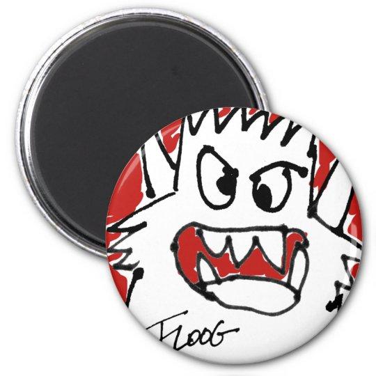 Red Cartoon Monster Magnet