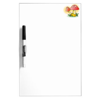 Red Cartoon Mushroom with White Spots Dry-Erase Board