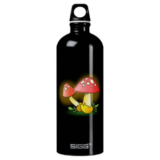 Red Cartoon Mushroom with White Spots SIGG Traveler 1.0L Water Bottle