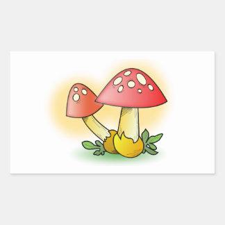 Red Cartoon Mushroom with White Spots Sticker