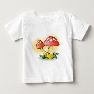 Red Cartoon Mushroom with White Spots Tee Shirt