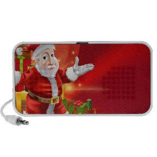 Red cartoon Santa Background Laptop Speakers