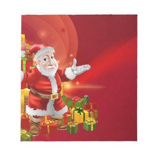 Red cartoon Santa Background Memo Notepads