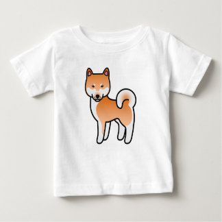 Red Cartoon Shiba Inu Baby T-Shirt