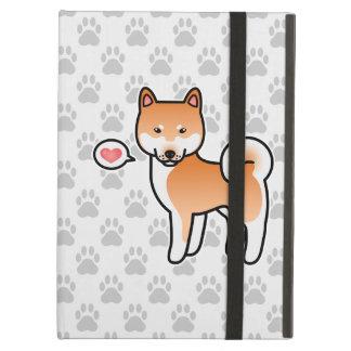 Red Cartoon Shiba Inu Love iPad Air Case