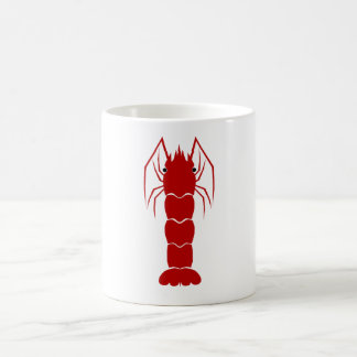 Red Cartoon Shrimp/Prawn Coffee Mug