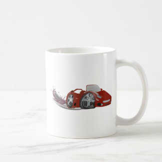 Red Cartoon Sports Car Art Coffee Mug