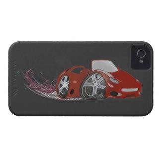 Red Cartoon Sports Car Art iPhone 4 Case-Mate Case