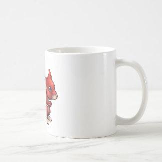 Red Cartoon Squirrel Coffee Mug